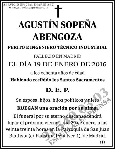 Agustín Sopeña Abengoza